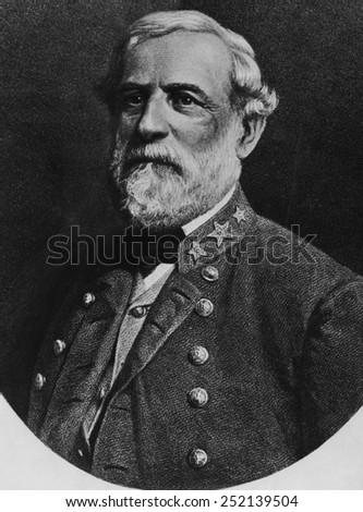 Robert E. Lee (1807-1870), celebrated Confederate General in the United States Civil War, circa. 1860s. - stock photo