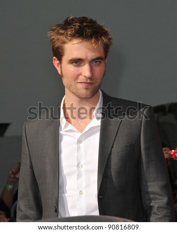 Robert Pattinson at hand & footprint ceremony honoring the Twilight Saga stars at Grauman's Chinese Theatre, Hollywood. November 3, 2011  Los Angeles, CA Picture: Paul Smith / Featureflash - stock photo