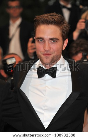 "Robert Pattinson at the gala screening of his new movie ""Cosmopolis"" in competition at the 65th Festival de Cannes. May 25, 2012  Cannes, France Picture: Paul Smith / Featureflash - stock photo"