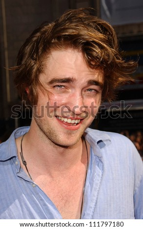 "Robert Pattinson at the premiere of ""Harry Potter and The Order of The Phoenix"". Grauman's Chinese Theatre, Hollywood, CA. 07-08-07 - stock photo"