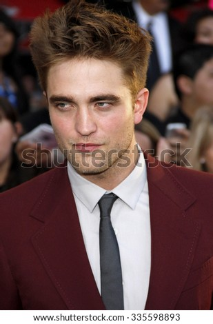 "Robert Pattinson at the ""The Twilight Saga: Eclipse"" Los Angeles Premiere held at the Nokia Live Theater in Los Angeles, California, United States on June 24, 2010."
