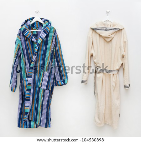 Robes on the hook - stock photo