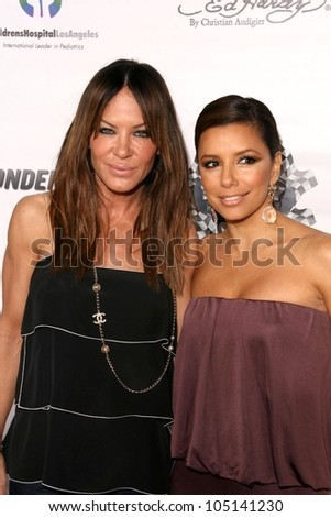 Robin Antin and Eva Longoria Parker at the Rally For Kids With Cancer 'The Winner's Circle' Gala Dinner. Private Location, Beverly Hills, CA. 05-02-09