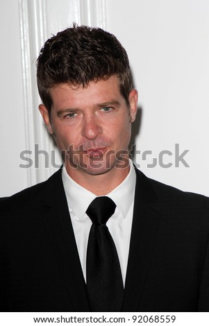 Robin Thicke at the Silver Rose Awards Gala, Beverly Hills Hotel, Beverly Hills, CA. 04-17-11