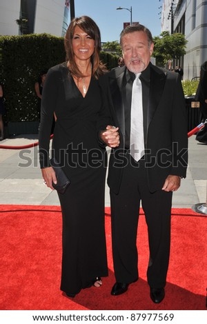 Robin Williams & Susan Schneider at the 2010 Creative Arts Emmy Awards at the Nokia Theatre L.A. Live. August 21, 2010  Los Angeles, CA Picture: Paul Smith / Featureflash