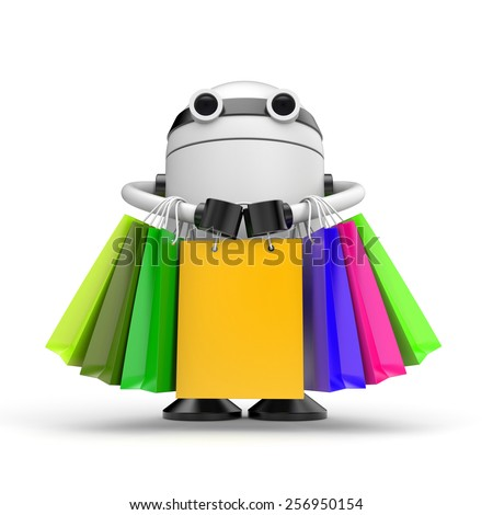 Robo shopping - stock photo