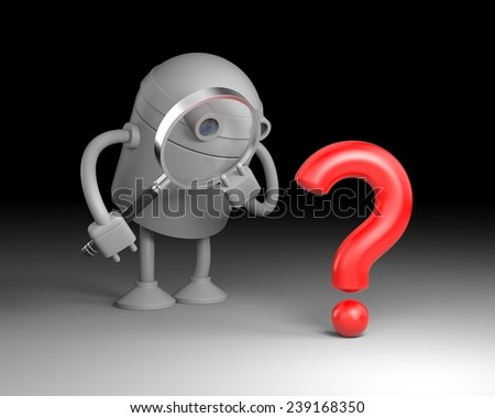 Robot analysis question - stock photo