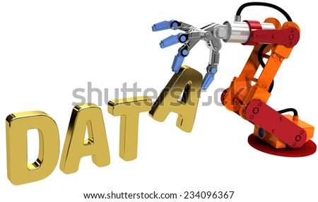 Robot arm automatic data storage and data center database technology