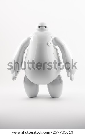 Robot BAYMAX from BIG HERO 6 Disney Movie, produced by Bandai #38700 #38701, 11 March 2015, in my studio, Povoa de Lanhoso