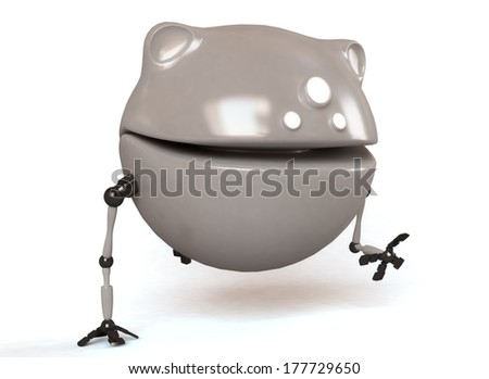 Robot dog isolated on white screen