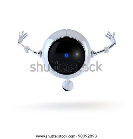 Robot Flying - stock photo