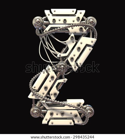 Robot Font - stock photo