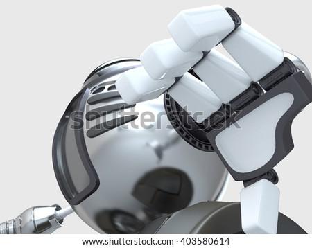 Robot. Hand. 3D illustration. - stock photo