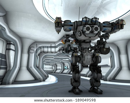 robot in the space station