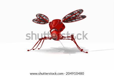 Robot mosquito - stock photo
