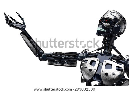 robot to be - stock photo