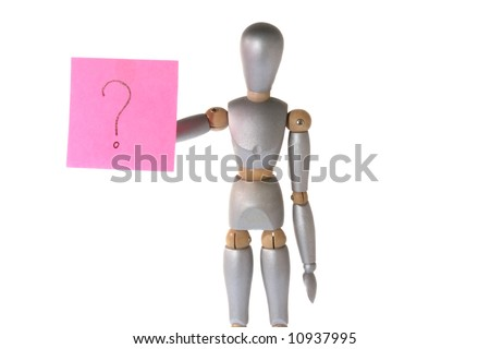 Robot with question mark