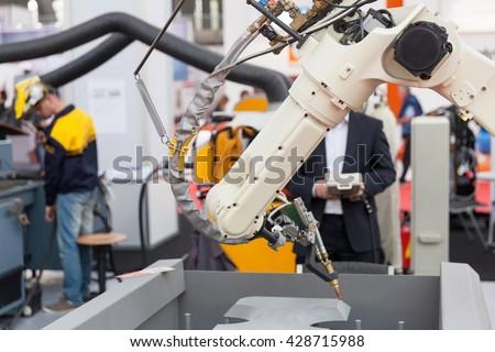 Robotic arm - stock photo