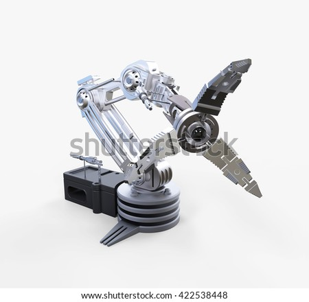 Robotic Arm, 3D Illustration