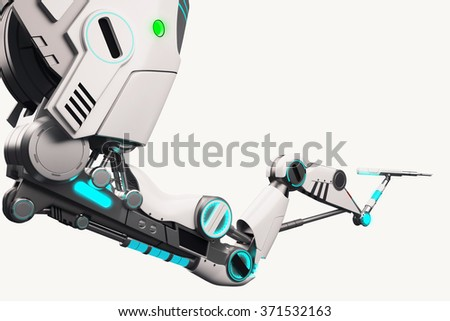 Robotic arm isolated on a white background