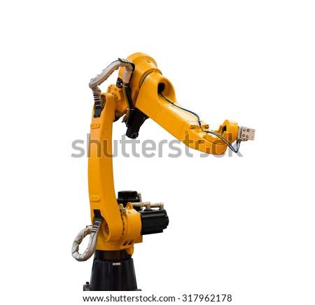 robotic hand machine tool  - stock photo