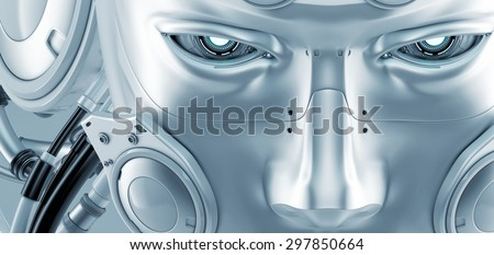 Robotic mask - stock photo