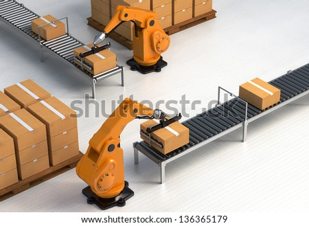 Robotic Palletizing and Packaging concept II