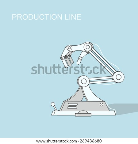 Robotic production line  Manufacturing and machine, automation and robotic and industry - stock photo