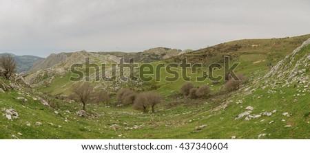 Rocche del Crasto, Park of the Nebrodi - Sicily - stock photo
