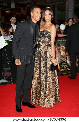 Rochelle Wiseman and Marvin Humes arriving for the UK film premiere of Water For Elephants, at Vue Westfield, west London. 03/05/2011  Picture by: Alexandra Glen / Featureflash