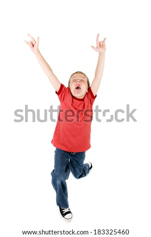 Rock and roll kid - stock photo