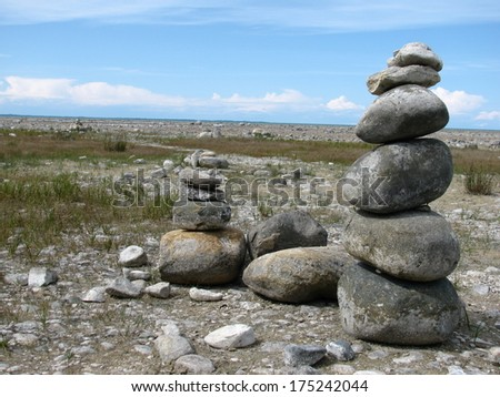 Rock Balancing - stock photo