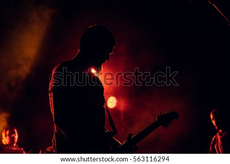 Musician Silhouette Stock Images, Royalty-Free Images ...