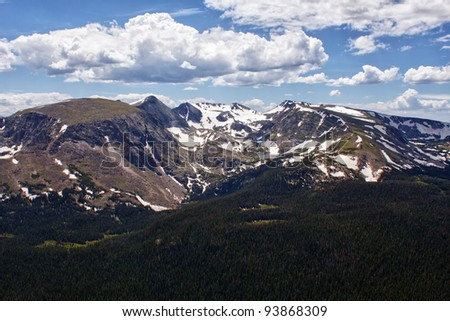 Rock Cut mountains seen from Trail Ridge Road, Rocky Mountains, Colorado