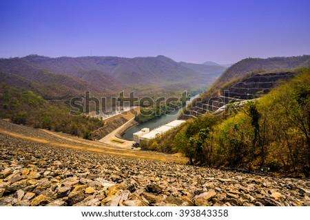 Rock Dam - stock photo
