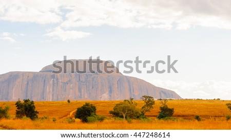 Rock far in Africa - stock photo