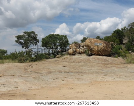 Rock formation. - stock photo