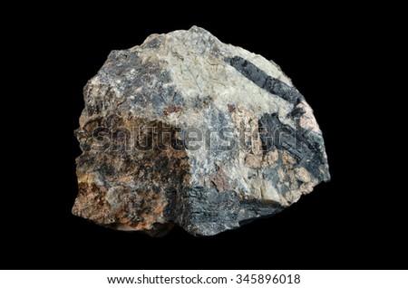 Rock formation Aegirine - stock photo