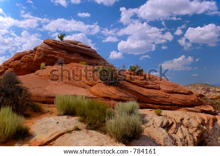 Rock formation at Escalante State Park, Utah
