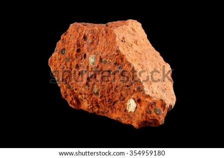 Rock formation Bauxite ( aluminium ore) - stock photo