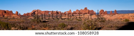 Rock Formation in Arches National Park - stock photo