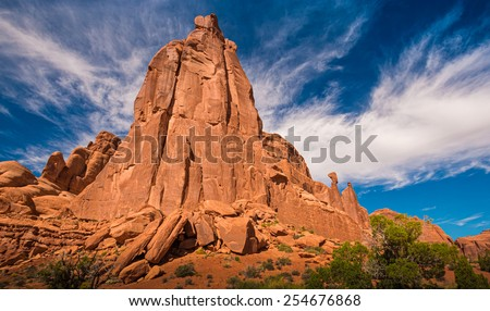 Rock formation in Arches national park