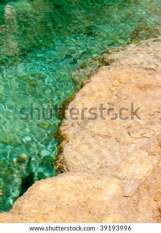 rock formation in hanging lake - stock photo