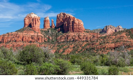 Rock Formation in Sedona - stock photo