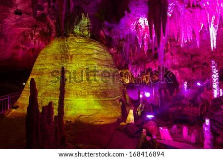 Rock formation inside a cave