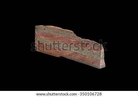 Rock formation Magnetite quartzite - stock photo