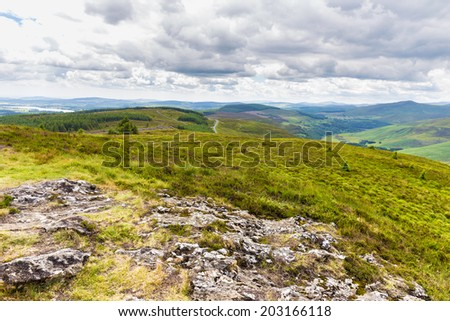 Rock formation on the summit - stock photo