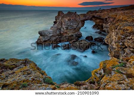"Rock formation ""The Arch"" near Tulenovo, Bulgaria - stock photo"