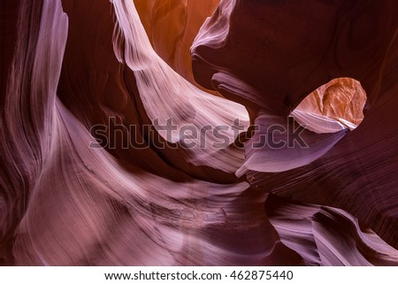 Rock formations at Lower Antelope Slot Canyon