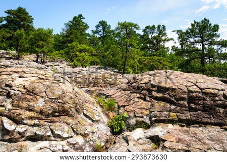 Rock Formations at Petit Jean State Park - stock photo